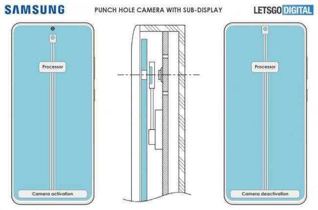 Samsung Galaxy S22 может получить спрятанную под экраном фронтальную камеру