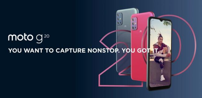 Бюджетник за 150 евро: Motorola представила Moto G20 с экраном на 90 Гц, NFC, защитой IP52 и батареей на 5000 мАч