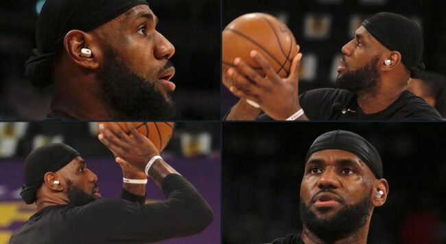 Баскетболист NBA Леброн Джеймс ходит с неанонсированными TWS-наушниками Beats Studio Buds
