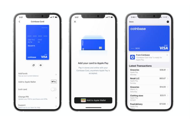 Криптовалютная биржа Coinbase теперь работает с Apple Pay и Google Pay