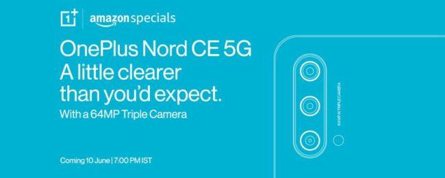 OnePlus показала дизайн неанонсированного смартфона OnePlus Nord CE 5G и раскрыла некоторые характеристики